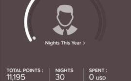 2021年度的万豪会籍 Marriott Bonvoy 信用卡房晚已经到帐