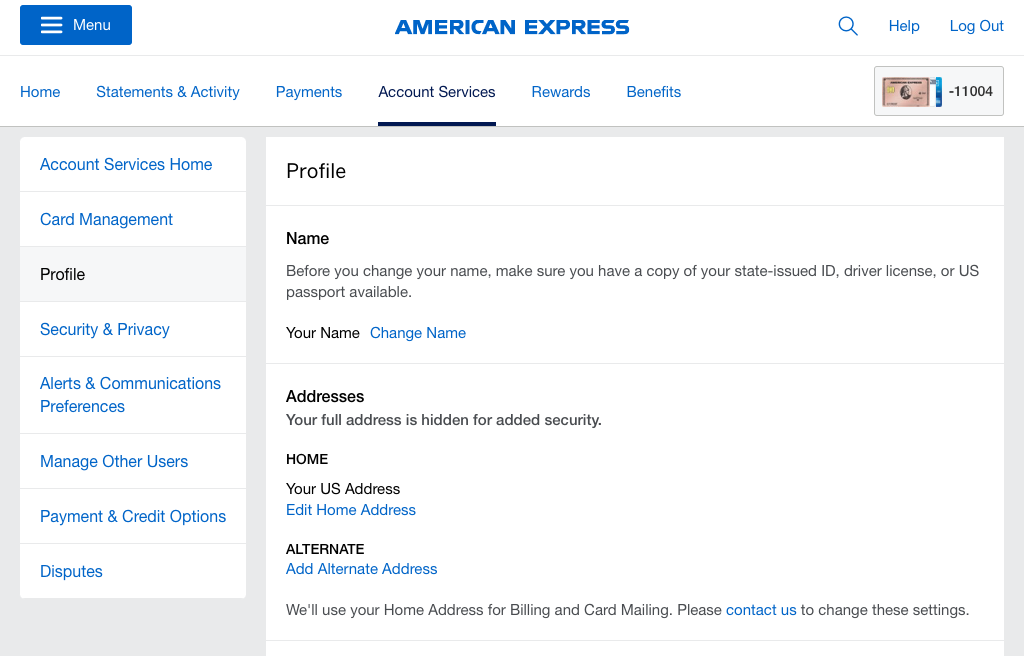 American-Express-Account_Services-Profile-Page