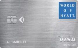 美国信用卡 – 摩根大通银行 World of Hyatt Credit Card 介绍,开卡礼5万分+5个房晚