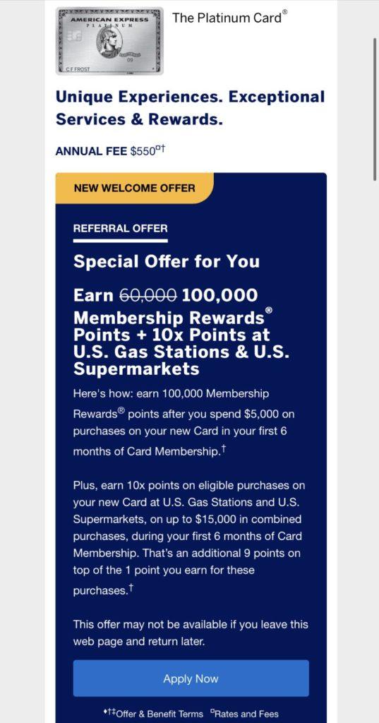 100K offer
