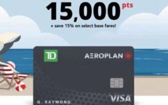 2021年9月30日前,Aeroplan联名信用卡加航消费每$1可得10 miles,用折扣价买AP的机会又来了