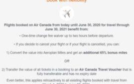 里程买分 - 如何利用加航最新的退款政策,用优惠价钱购买Aeroplan里程