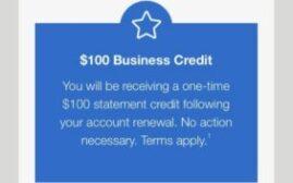 加拿大美国运通向部分Amex商业白金卡发放$100 Renew Credit和$680 Statement Credit