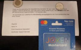 读者来信 - 另一个的礼卡欺诈(fraud) + 后续处理结果
