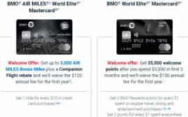 满地可银行BMO的两张World Elite Mastercard免首年费和新历史最高开卡奖励