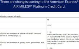 2019年11月4日起,加拿大Amex Air Miles Platinum提高年费,$65拿2千Air Miles的最后机会