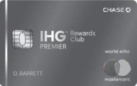 【史高】美国信用卡 – 摩根大通银行 IHG® Rewards Club Premier World Elite MasterCard 简介,15万分+首年免年费