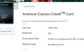 2021年5月5日前申请,Amex Cobalt史高4万5 MRs开卡奖励