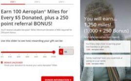 2020年9月30日前,向加拿大红十字会捐款$50,可赚取1000+额外250 Aeroplan