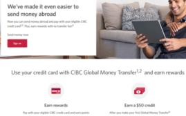 CIBC Global Money Transfer第一次转钱转$100最高拿回$75