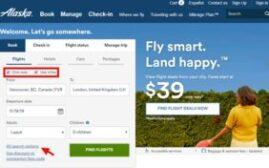 手把手教你在阿拉斯加航空Alaska Airlines (AS)的网站查询和兑换里程机票