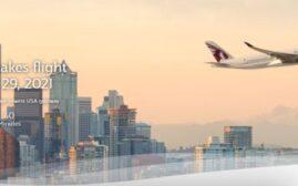 快讯 – 2021年1月29日开始,卡塔尔航空Qatar Airways新开从多哈-西雅图的直飞航线