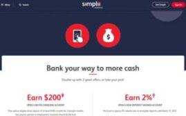 申请 simplii 的免费银行帐户可得$250