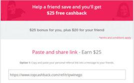 2020年11月28日前,TopCashBack优惠,新注册用户可得$20美元